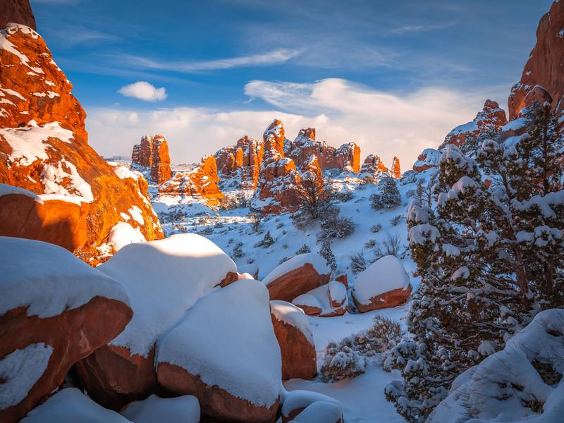 Winter Symphony: Arches National Park Fuji GFX100 Elliot McGucken Medium Format Fine Art Landscape Nature Photography