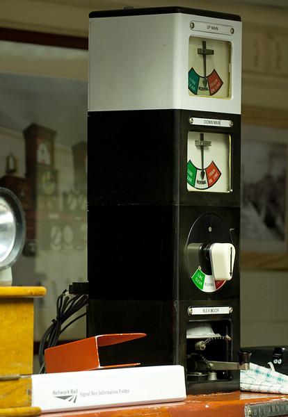 Garsdale signal box block instrument.