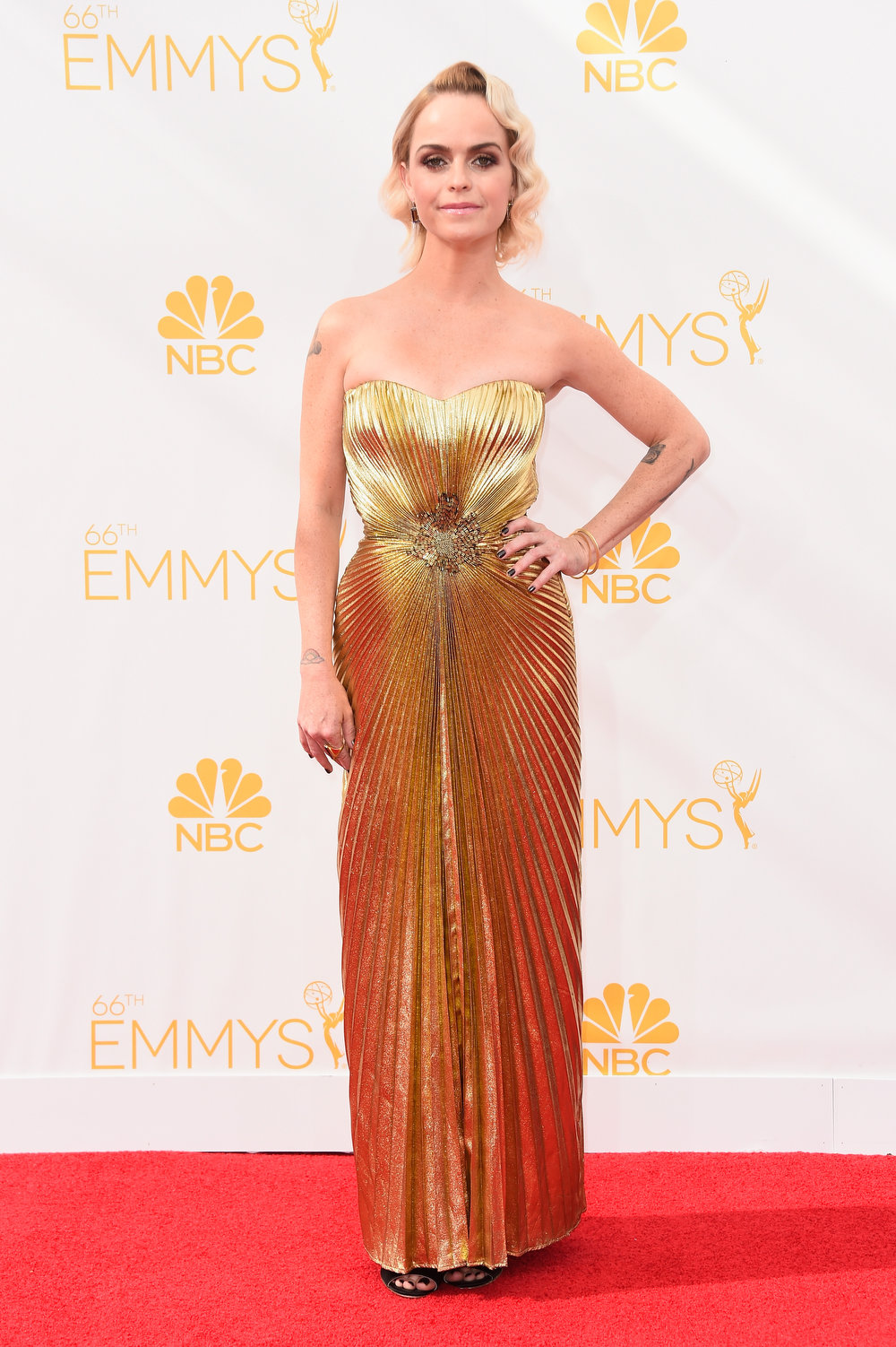 . Actress Taryn Manning attends the 66th Annual Primetime Emmy Awards held at Nokia Theatre L.A. Live on August 25, 2014 in Los Angeles, California.  (Photo by Frazer Harrison/Getty Images)