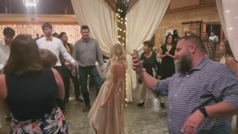 Cell-phone video candids captured at the Bennett's Wedding Reception.