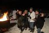 2015-02-07 Canton Land Trust Moonlight Hike V(67) Fire Jazz Hands Linda Kathy Friends