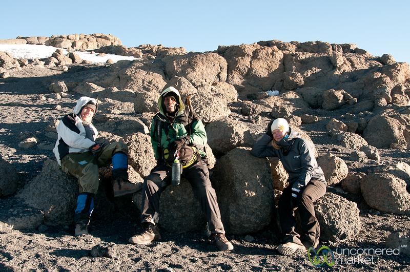 Resting at the Top - Mt. Kilimanjaro, Tanzania