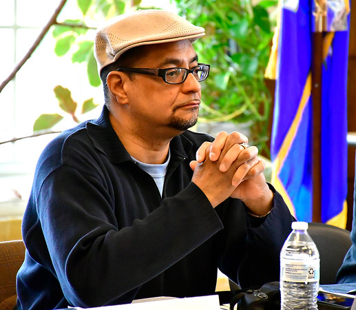 5/4/2019 Mike Orazzi   Staff State Rep Geraldo Reyes during The legislative Black and Puerto Rican Caucus' town hall meeting Saturday held at the Human Resources Agency of New Britain.