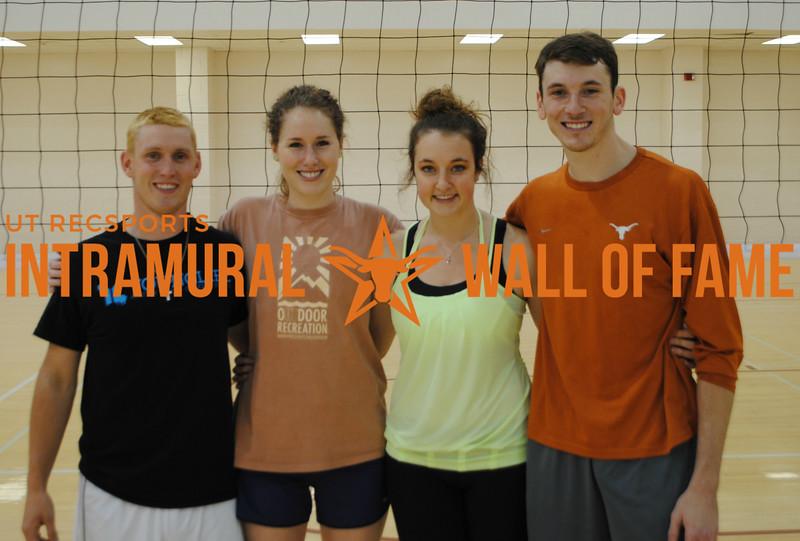 SPRING VOLLEYBALL Champion  Texas Tough  R1: Jacob Cole, Rose Wilkowski, Summer Kisner, Ryan Saum