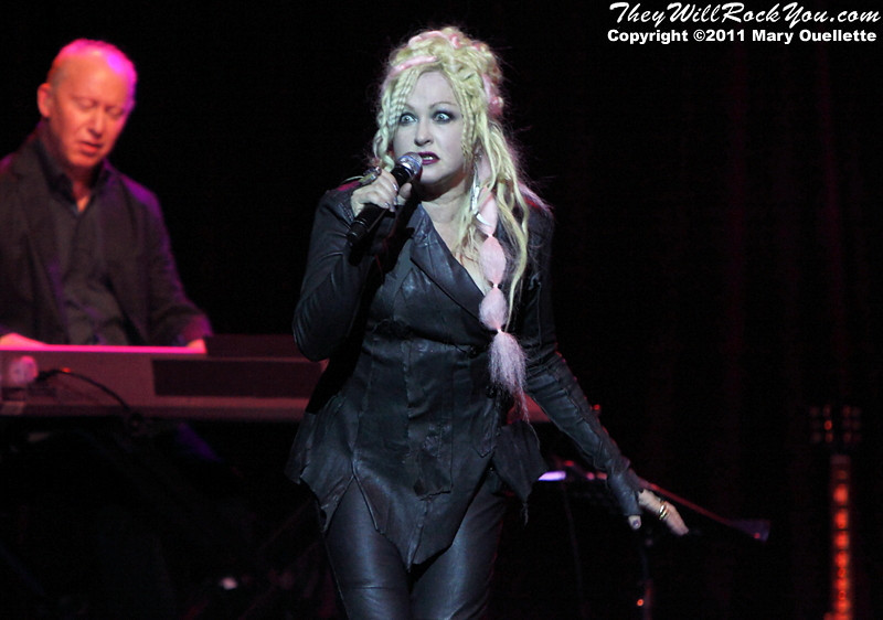 "Cyndi Lauper performs on her ""From Memphis To Mardi Gras Tour"" on  October 23, 2011 at the House of Blues in Boston, Massachusetts"