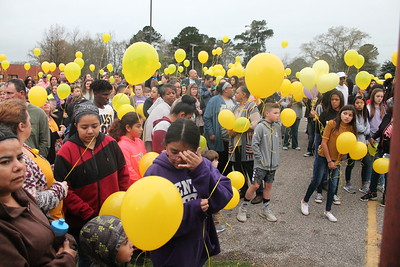 Center Middle School memorial service and balloon release for Lexi Jones who passed away last week