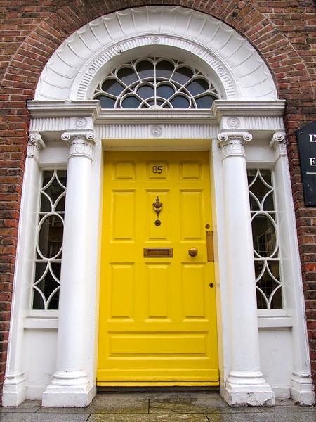 Colorful door in Dublin