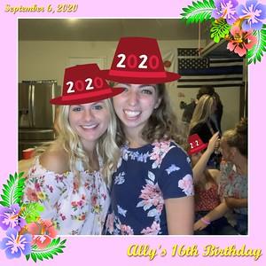 Ally's sweet 16 - Sept 6, 2020