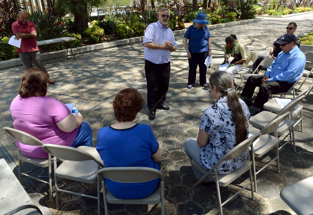 . Religious leaders and community members participate in the National Day of Prayer Thursday, May 2, 2013, at the Pomona Civic Center Plaza in Pomona. Jennifer Cappuccio Maher/Staff Photographer