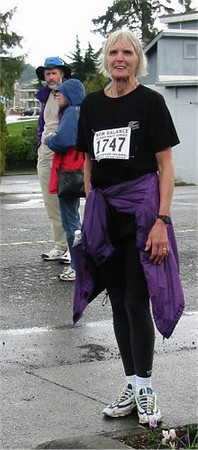 2003 Comox Valley Half Marathon - Sandy Anderson says 'never again!' but we don't believe her