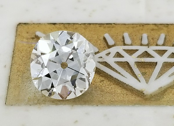 1.95ct Cushiony Old European Cut Diamond - GIA J, VVS2