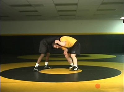 Defending the front headlock- attack elbow to single