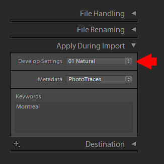 Using Presets in the Import Module