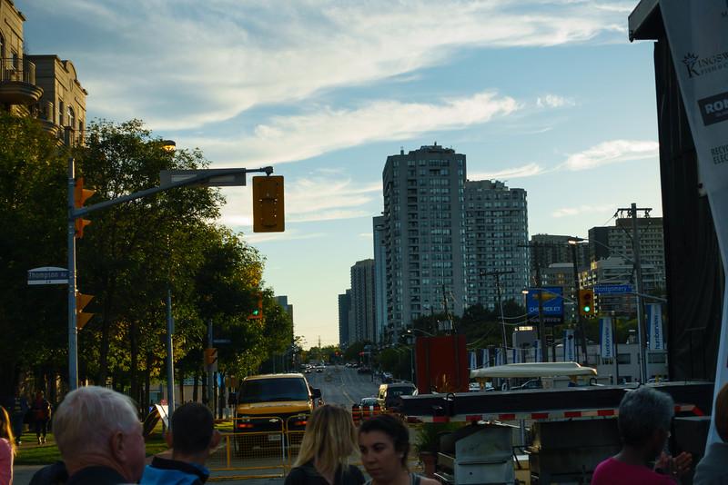 Evening on Bloor St