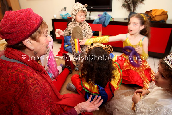 ISRAEL, Tel Aviv, Ramat Gan. Purim at home. (3.2010)