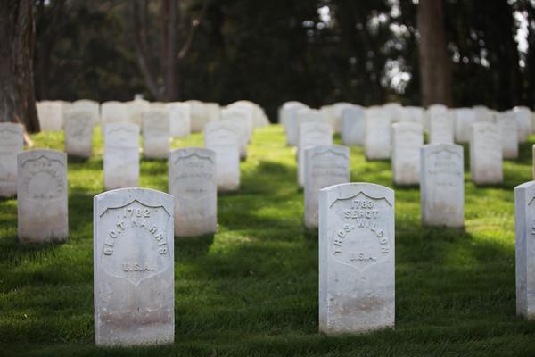 SF Marina & Presidio Cemetery - Thursday April 15th, 2010