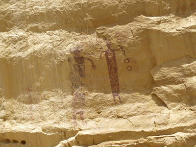 """Head of Sinbad"" Pictographs - San Rafael Swell  10.12.09"