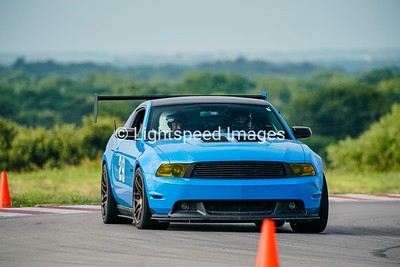 29 Blue Mustang