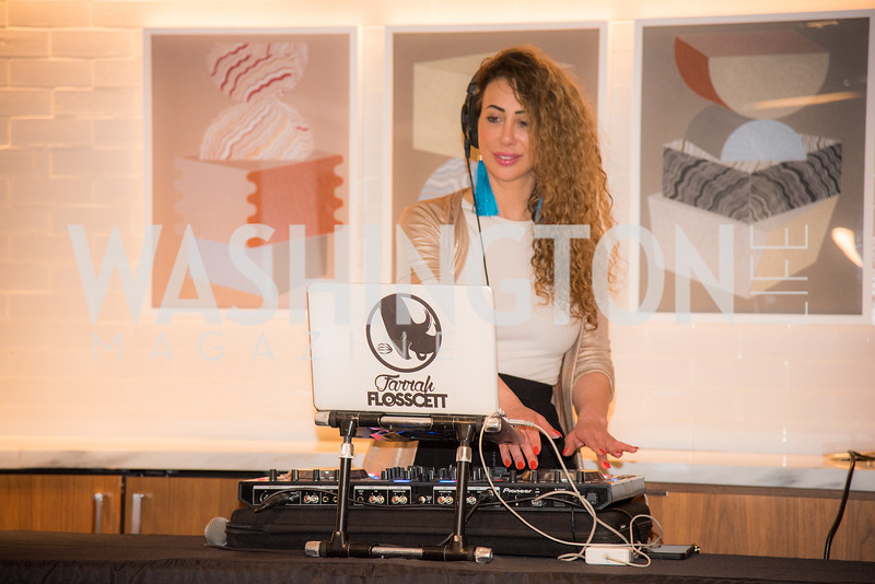 DJ Farrah Flosscett, Washington Life, Tech Issue Party, One Hill South, March 4, 2019, photo by Ben Droz.