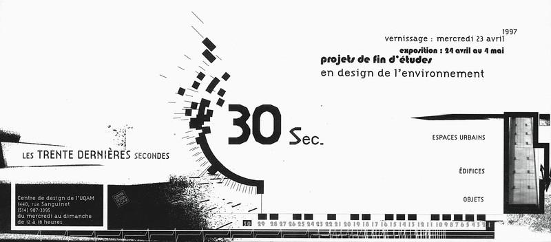 LES TRENTES DERNIÈRES SECONDES _ Exposition