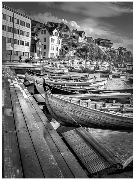 Faroe Boats 2   Black and White Photography by Wayne Heim