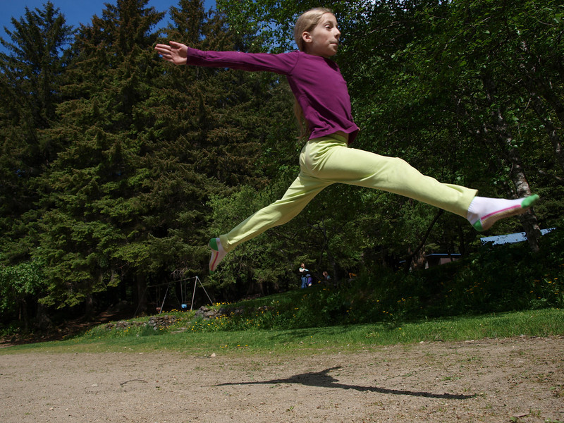 Maddy in flight. I took this as an example photo for the middle school photography class I teach.