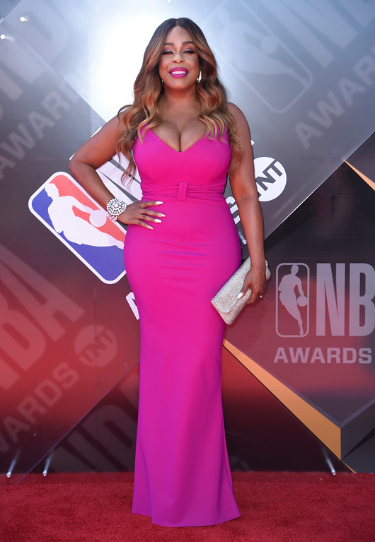 . Niecy Nash arrives at the NBA Awards on Monday, June 25, 2018, at the Barker Hangar in Santa Monica, Calif. (Photo by Richard Shotwell/Invision/AP)