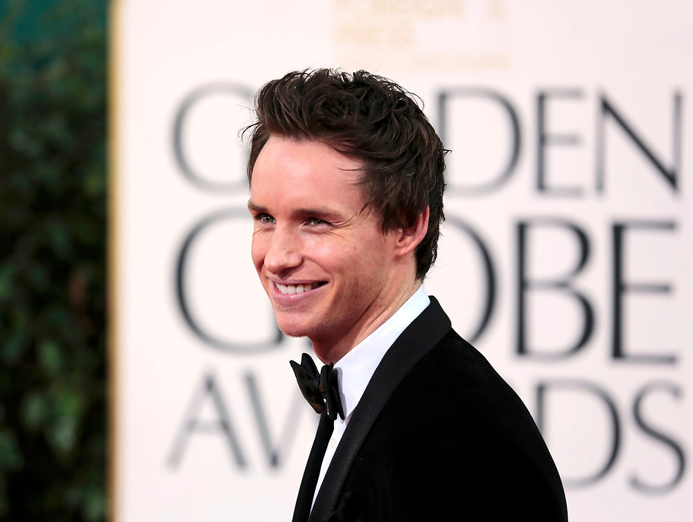 ". Actor Eddie Redmayne of the film ""Les Miserables\"" at the 70th annual Golden Globe Awards in Beverly Hills, California January 13, 2013. REUTERS/Jason Redmond"