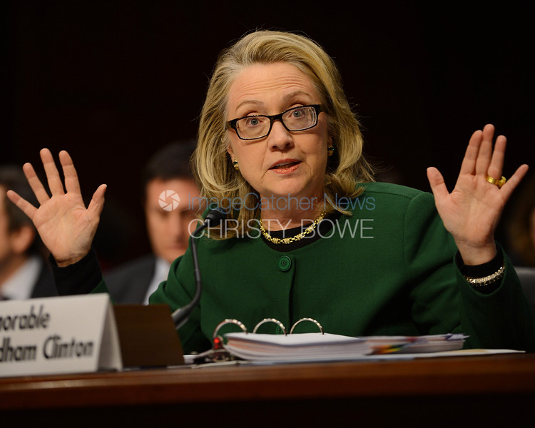Secretary of State Hillary Clinton, testifies about  the Bengazhi  Embassy attack before the u.S. Senate.