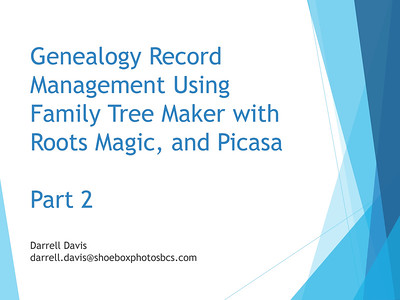 Genealogy Records Management - Part 2