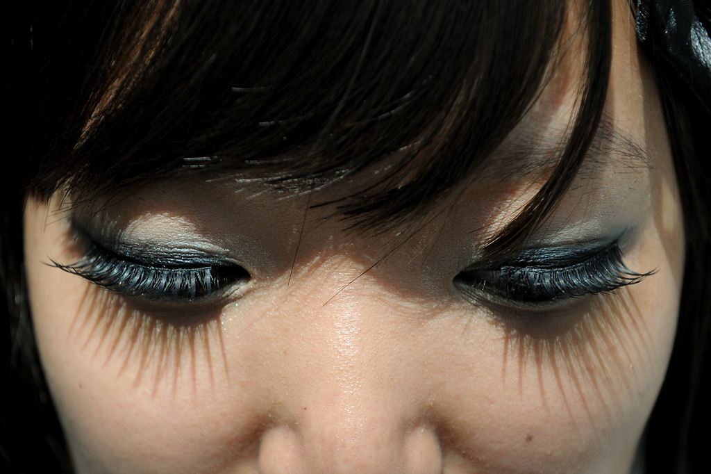 . Eyelashes at the Anime Expo at the L.A. Convention Center, Saturday, July 6, 2013. (Michael Owen Baker/L.A. Daily News)