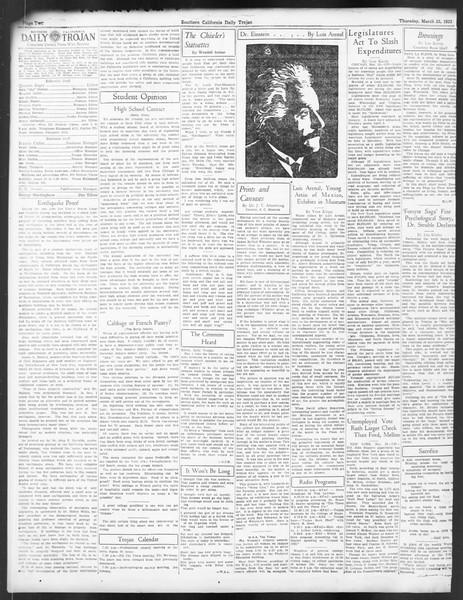 Daily Trojan, Vol. 24, No. 112, March 23, 1933