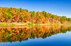Autumn in full swing at Choccolocco Number 11 Lake -  Oxford, Alabama