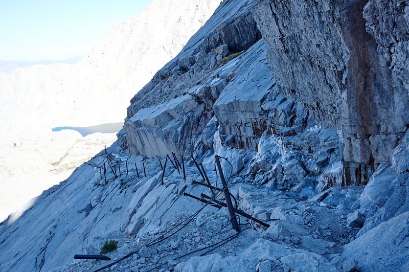 The cables along the switchbacks