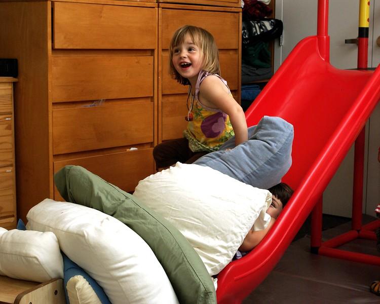 Cushion slide.