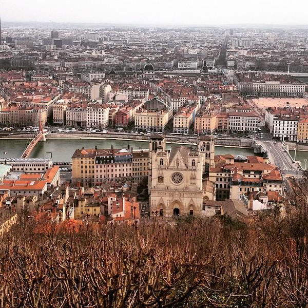 Lyon from from Notre Dame de Fourvière Basilica - France
