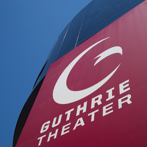 Low angle view of the Guthrie Theater sign, Minneapolis, Hennepin County, Minnesota, USA