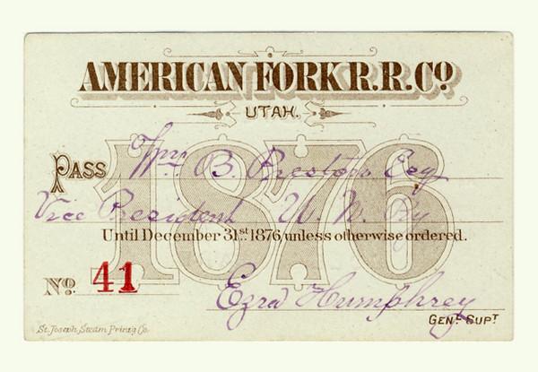 American Fork Railroad 1876