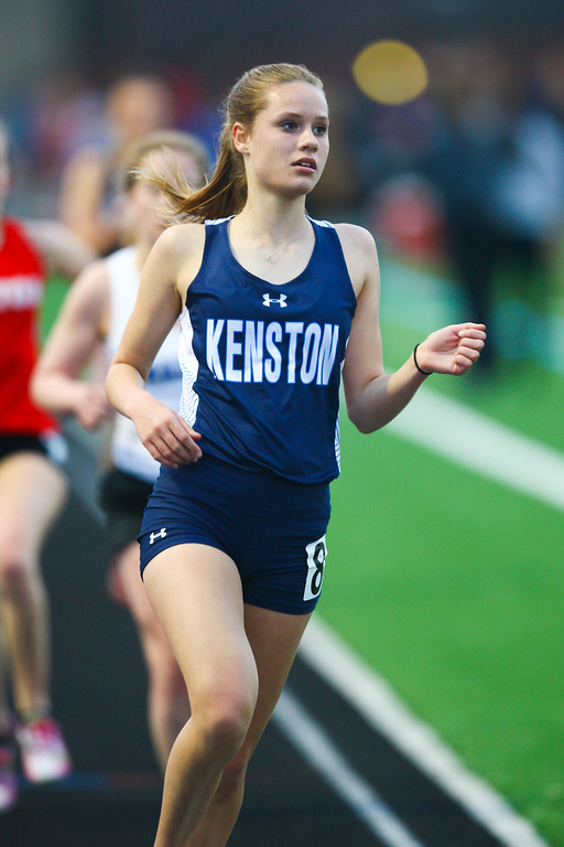 . 2018 - Track and Field - Willoughby South Invitational. 3200 Meter Run.  Ellie Pleune won from Kenston in a time of 11:49.25.