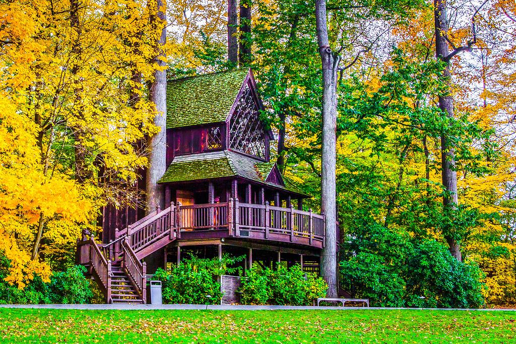 宾州长木公园,树间木屋