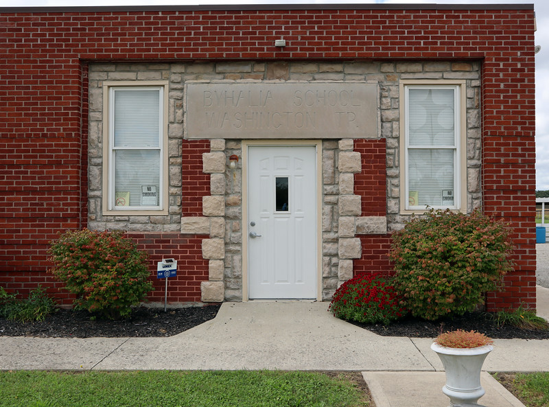Entrance to the Washington Township Hall in Byhalia OH.