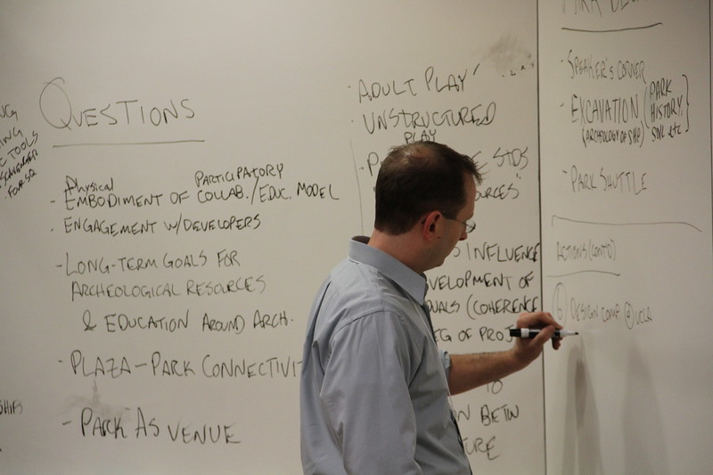 2011, Jeff Burke Takes Notes