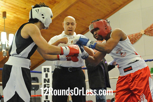 Bout 9 Cassius Foster, Cleveland -vs- Ronnie  Hamayell, Dickie Green Boxing 145 lbs