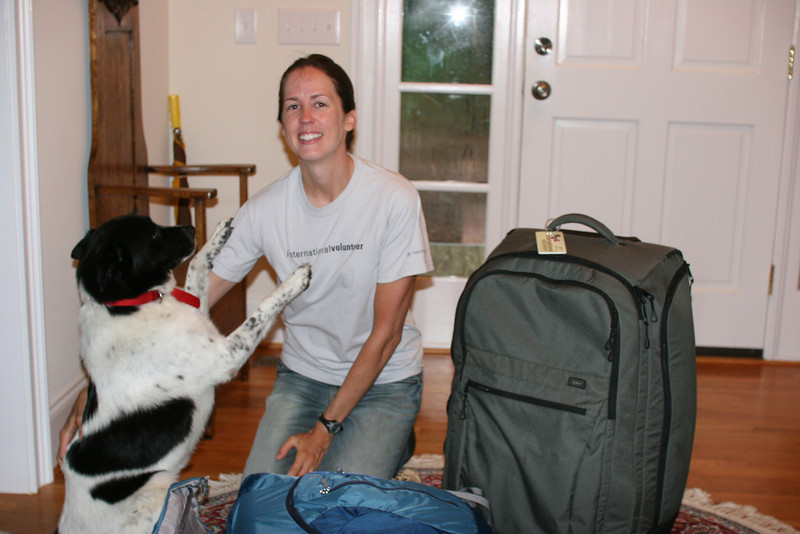 Bessie saying good-by to Catherine, who is headed for Guatemala