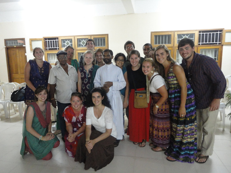 After a Mass with Father Mathew Thundathil, vice-chair of the Trivandrum Fuller Center for Housing.