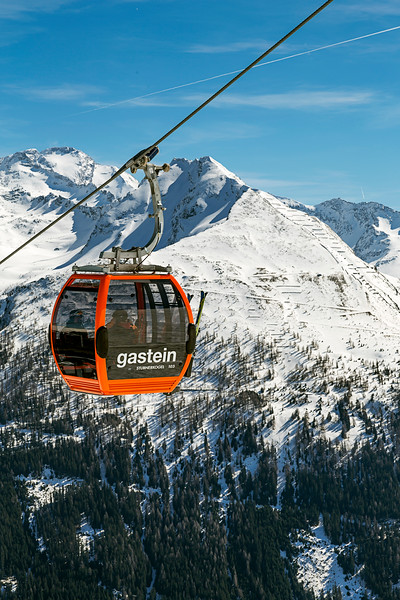 Cable Car Over Bad Gastein, Austria
