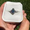 1.41ctw Art Deco Style Aqua and Diamond Dinner Ring 25