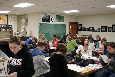 High School Classes - 2008-2009 - 1/19/2009 Art Class