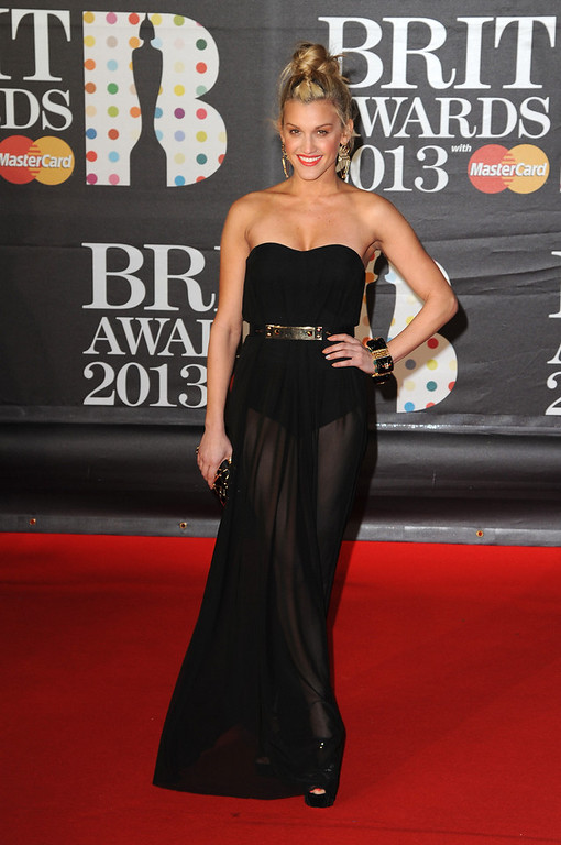 . Ashley Roberts attends the Brit Awards 2013 at the 02 Arena on February 20, 2013 in London, England.  (Photo by Eamonn McCormack/Getty Images)