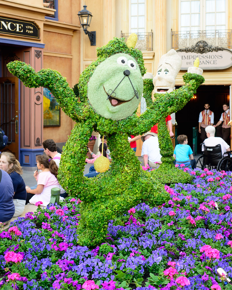 Cogsworth Topiary - Epcot Flower & Garden Festival 2016